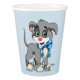 Heart Nose Puppy Cartoon Paper Cup