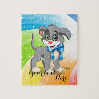 Heart Nose Puppy Cartoon Puzzles