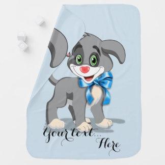 Heart Nose Puppy Cartoon Receiving Blanket