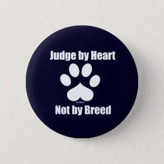 Heart Not Breed - Navy 6 Cm Round Badge