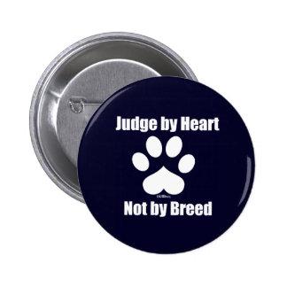 Heart Not Breed - Navy 6 Cm Round Badge