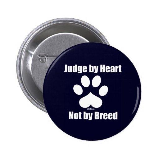 Heart Not Breed - Navy Pins