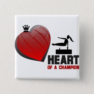 Heart of a Champion Gymnastics 15 Cm Square Badge