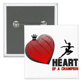Heart of a Champion Ice Skating Pin