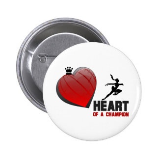 Heart of a Champion Ice Skating Pinback Buttons