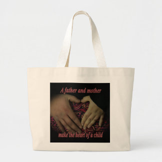 Heart of a child jumbo tote bag