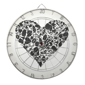 Heart of a part of a body dartboard