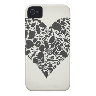 Heart of a part of a body iPhone 4 cover