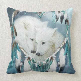 Heart Of A Wolf Art Decorator Pillow