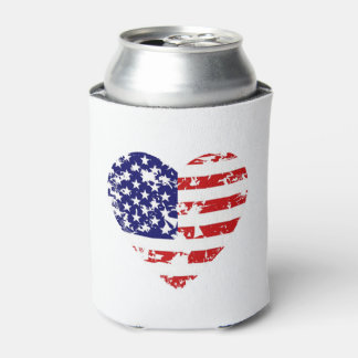 Heart Of America July 4th Beverage Can Cooler