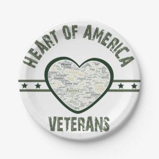 Heart of America - Veterans Paper Plate
