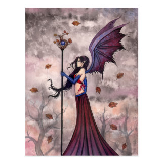Heart of Autumn Vampire Gothic Fairy Postcard