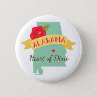 Heart Of Dixie 6 Cm Round Badge