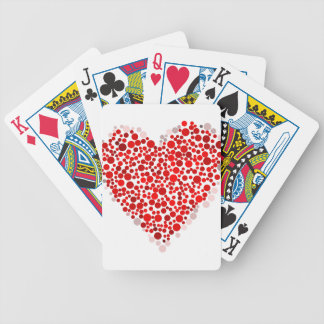 Heart Of Dots Bicycle Playing Cards