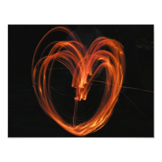 Heart of Fire 11 Cm X 14 Cm Invitation Card