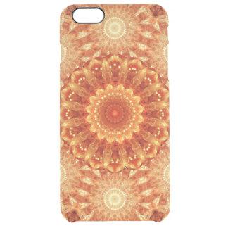 Heart of Fire Mandala Clear iPhone 6 Plus Case
