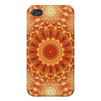 Heart of Fire Mandala Covers For iPhone 4