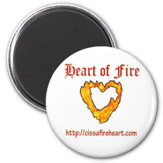Heart of Fire Round Magnet 2