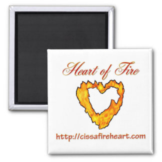 Heart of Fire Square Magnet