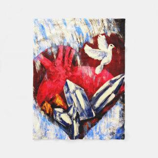 Heart of Flesh - Fleece Blanket