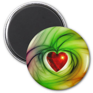 Heart Of Glass Refrigerator Magnets