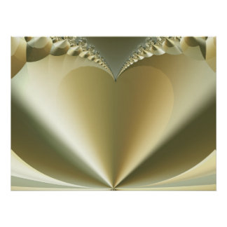 Heart of Gold Abstract Art Print
