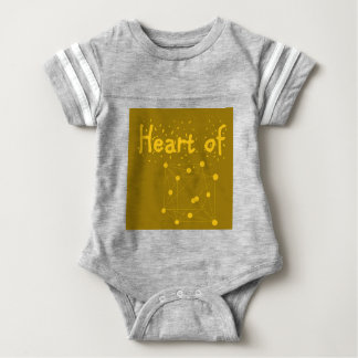 heart of gold baby outfit great gift for scientist baby bodysuit