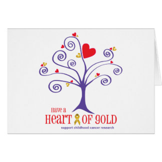 Heart of Gold for childhood cancer Card