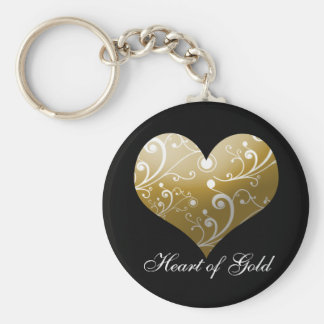 Heart of Gold Key Ring