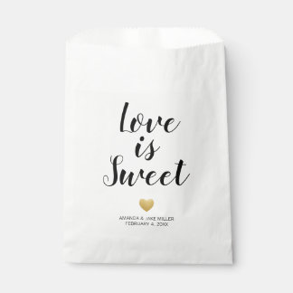 Heart of Gold Love is Sweet Favor Bag