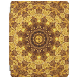 Heart of Gold Mandala iPad Cover