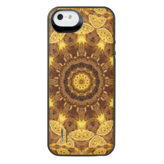 Heart of Gold Mandala iPhone SE/5/5s Battery Case