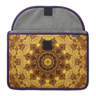 Heart of Gold Mandala MacBook Pro Sleeve
