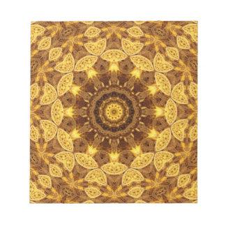 Heart of Gold Mandala Notepads