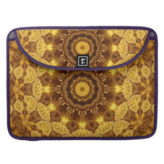 Heart of Gold Mandala Sleeves For MacBook Pro