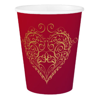 Heart of Gold Paper Cup