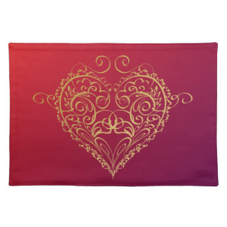 Heart of Gold Placemat