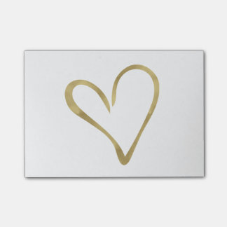 Heart of Gold Post-it Notes