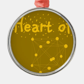 heart of gold Silver-Colored round decoration