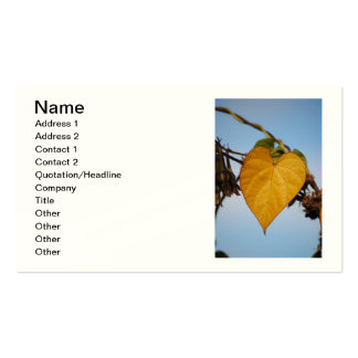 Heart Of Gold Yellow Leaf Business Card