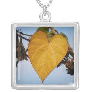 Heart Of Gold Yellow Leaf Necklace