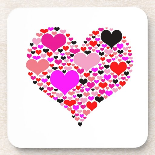 Heart of hearts drink coasters