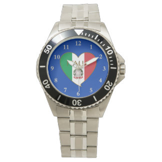 Heart of ITALY flag tricolor ITALY SOUVENIR Wristwatch