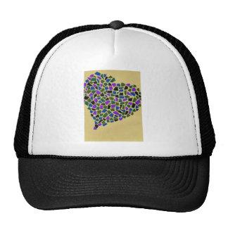 Heart of mosaic cap