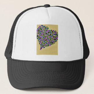 Heart of mosaic trucker hat
