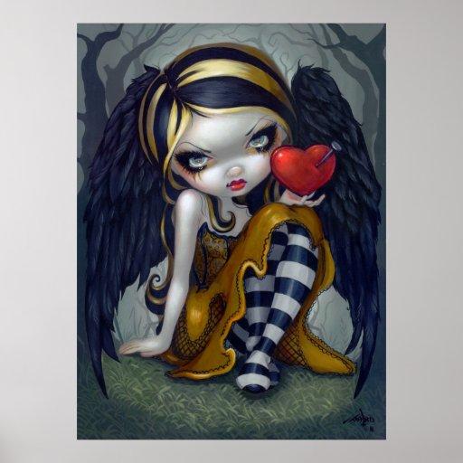 Heart of Nails ART PRINT gothic Valentine fairy