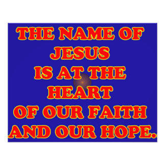 Heart of our faith and hope: The name Jesus! Photograph