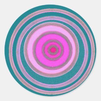 heart of pink round sticker
