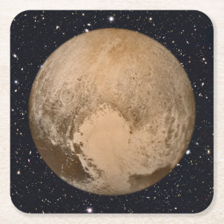 Heart of Pluto Starry Sky Square Paper Coaster