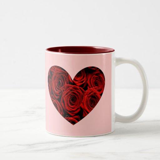 Heart of Roses Coffee Mug
